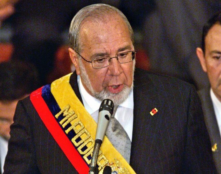 Gustavo Noboa, ex-presidente do Equador, morre aos 83 anos