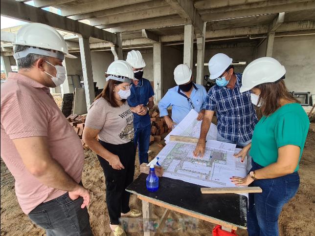 Secretária Ana Cláudia inspeciona obra do Centro de Monitoramento INTEGRADO em Campina Grande e anuncia entrega para janeiro