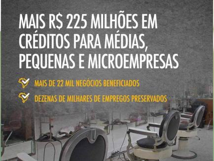 Governo Bolsonaro anuncia linha de credito de R$ 225 milhões para micro, pequenas, médias empresas e profissionais autônomos.