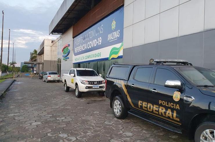 PF realiza operação no Amazonas para cumprir mandados contra suspeitos de roubarem dinheiro da saúde.