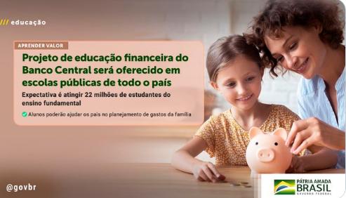 Projeto de educação financeira nas escolas públicas é expandido para todo o país