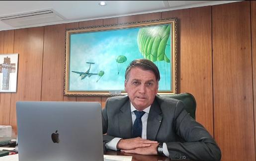 """""""A eleição na Paraíba de minha parte passar por Romero Rodrigues"""", presidente Bolsonaro."""